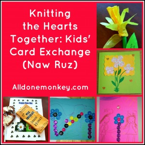 Knitting the Hearts Together - Kids Card Exchange - Alldonemonkey.com