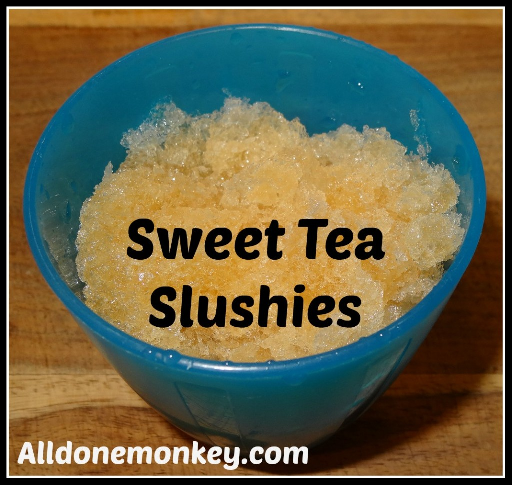 Sweet Tea Slushies - Alldonemonkey.com