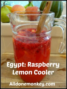 Egypt: Raspberry Lemon Cooler {Around the World in 12 Dishes} - Alldonemonkey.com