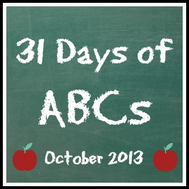 31 Days of ABCs - A collaborative series on teaching the ABCsn teachingAlldonemonkey.com