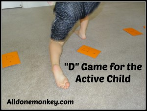 "Letter ""D"" Game for the Active Child - Alldonemonkey.com"