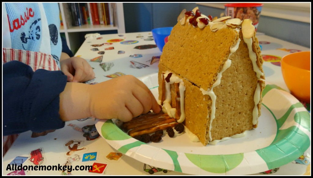 Healthy Gingerbread House - Alldonemonkey.com