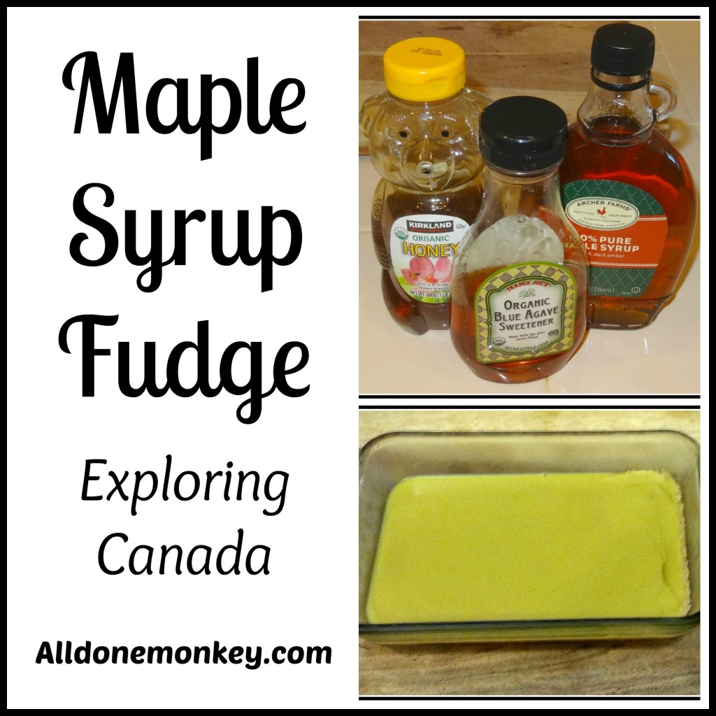 Maple Syrup Fudge from Canada {Around the World in 12 Dishes} - Alldonemonkey.com