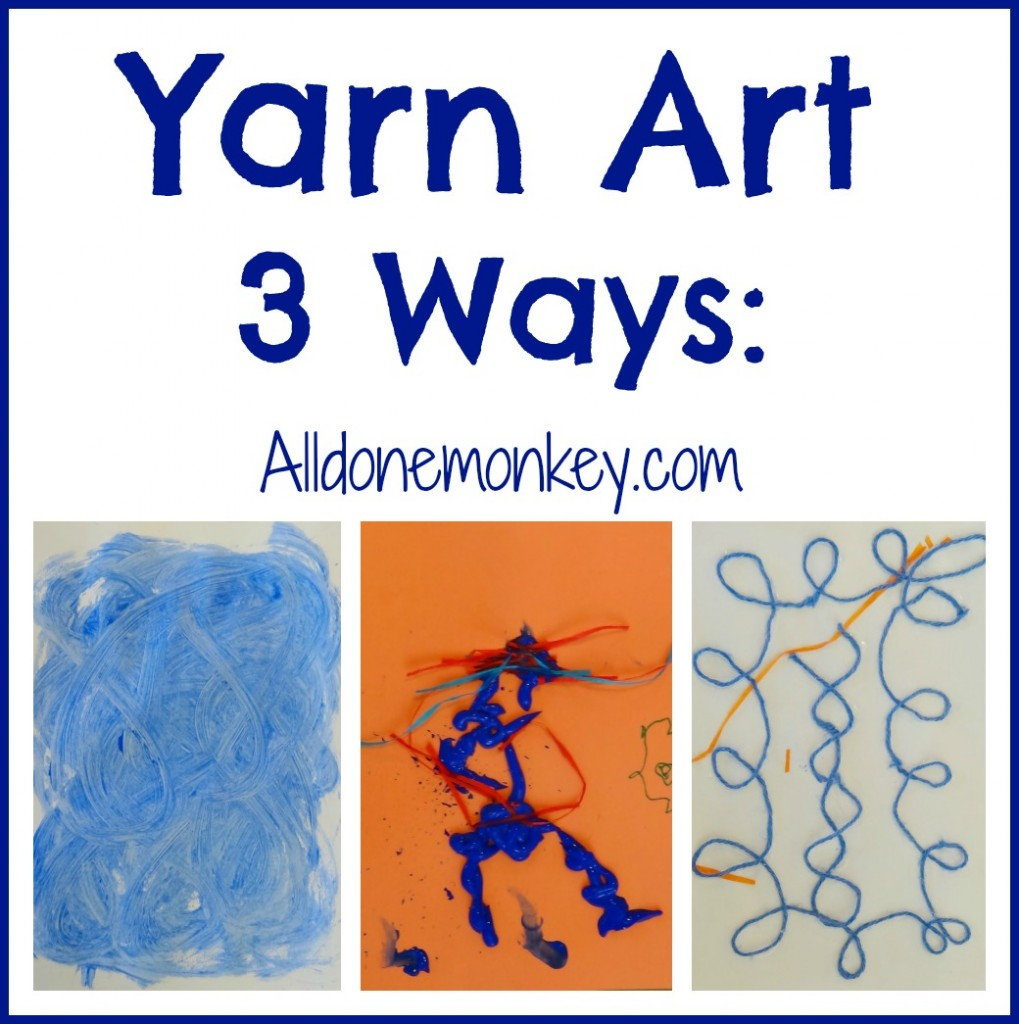 Yarn Art Three Ways: Portuguese Azulejos {Around the World in 12 Dishes} - Alldonemonkey.com