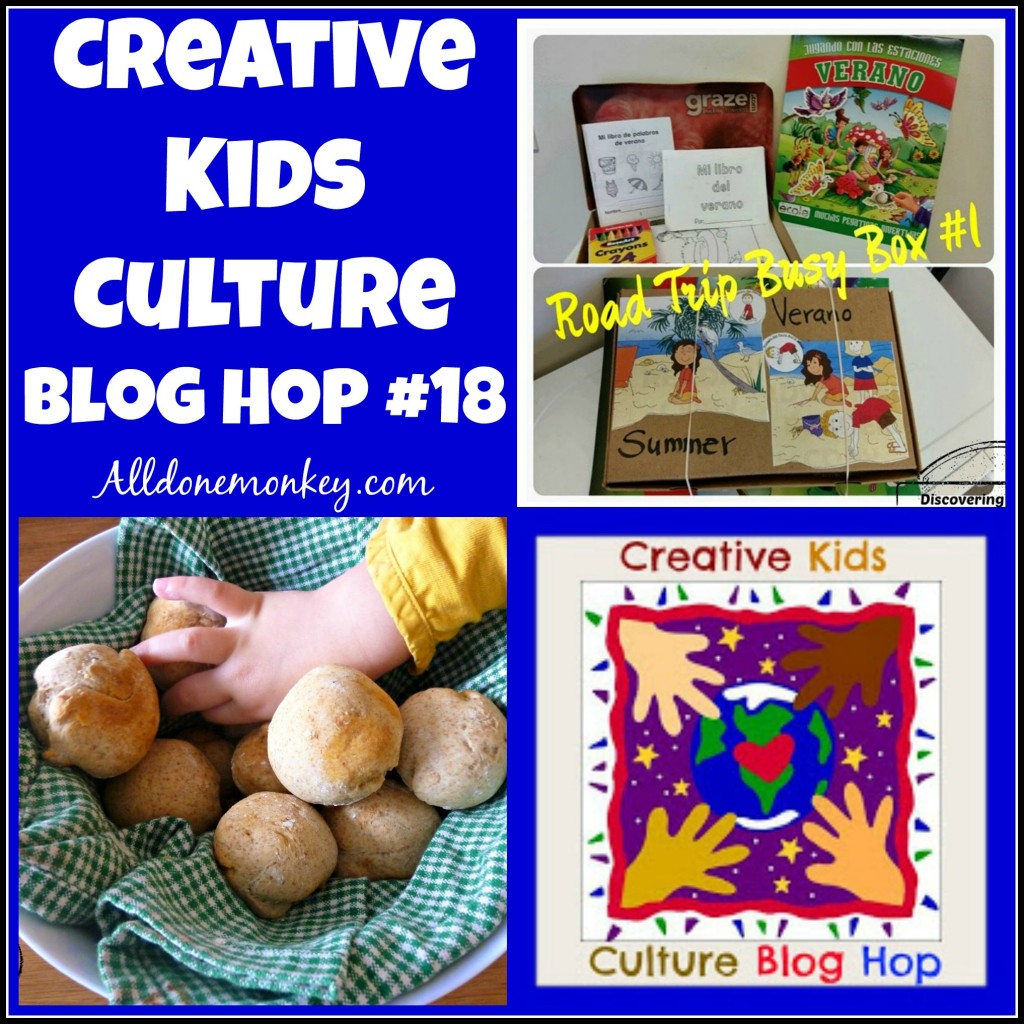 Creative Kids Culture Blog Hop #18 - Alldonemonkey.com