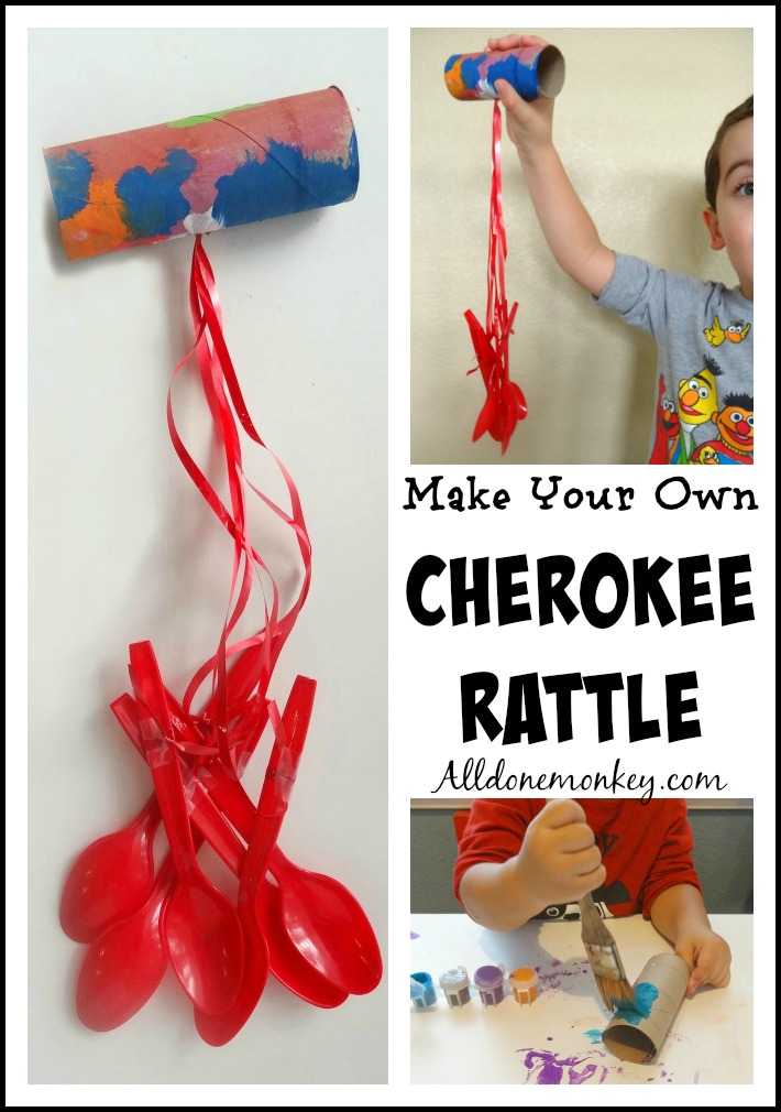 Cherokee Rattle Craft {Native American Heritage Month Blog Hop and Giveaway} | Alldonemonkey.com