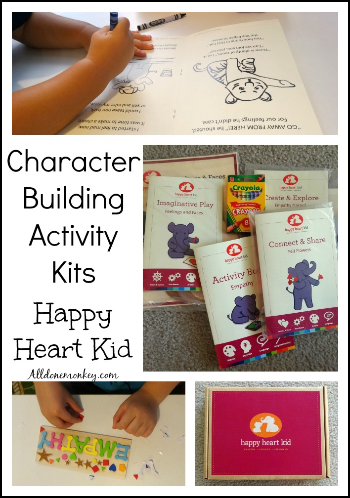 Character Building Activity Kits: Happy Heart Kid | Alldonemonkey.com