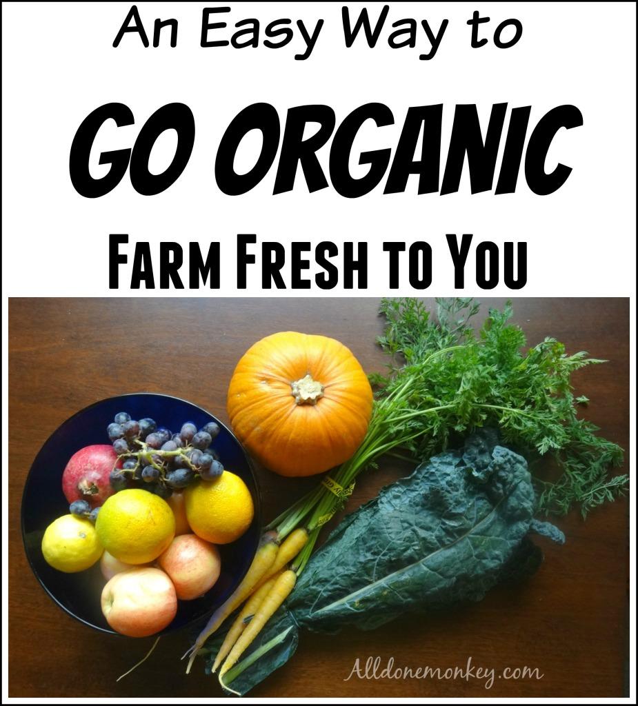 An Easy Way to Go Organic {Farm Fresh to You} | Alldonemonkey.com