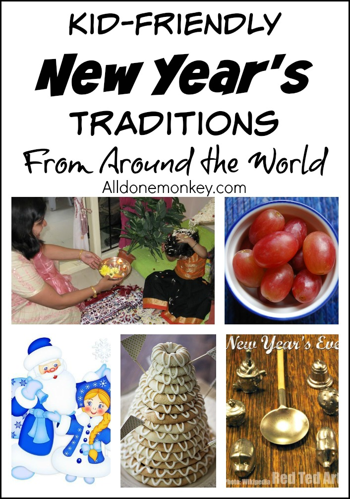 Kid-Friendly New Year's Traditions from Around the World | Alldonemonkey.com