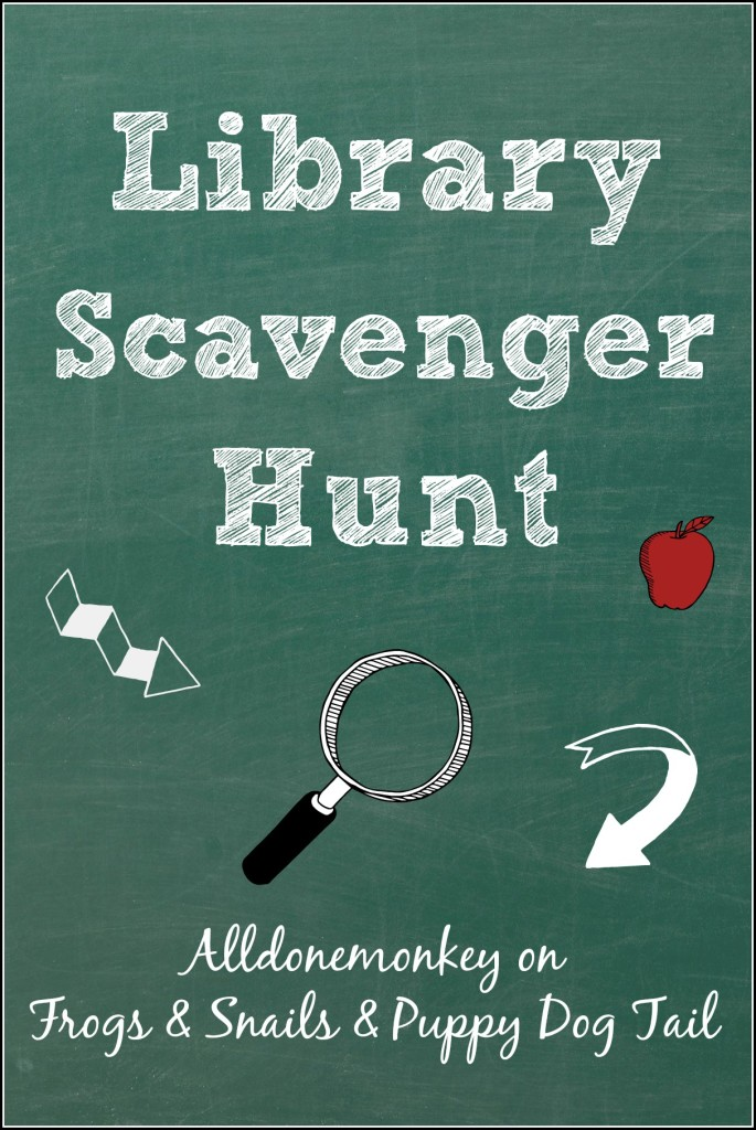 Library Scavenger Hunt | Alldonemonky on Frogs and Snails and Puppy Dog Tail