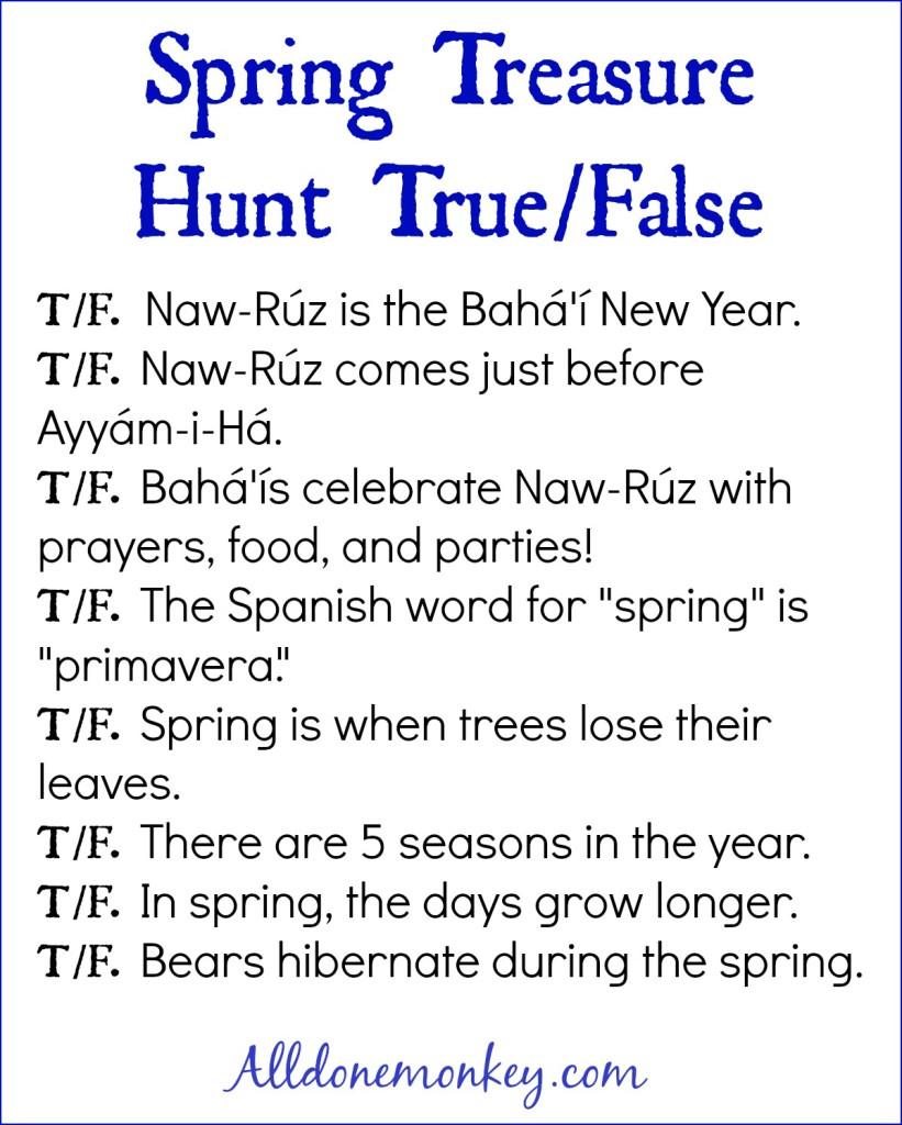 Spring Treasure Hunt {Naw Ruz} | Alldonemonkey.com