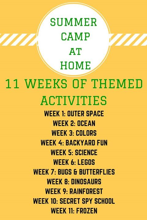11 Weeks of Themed Activities from All Things Kids
