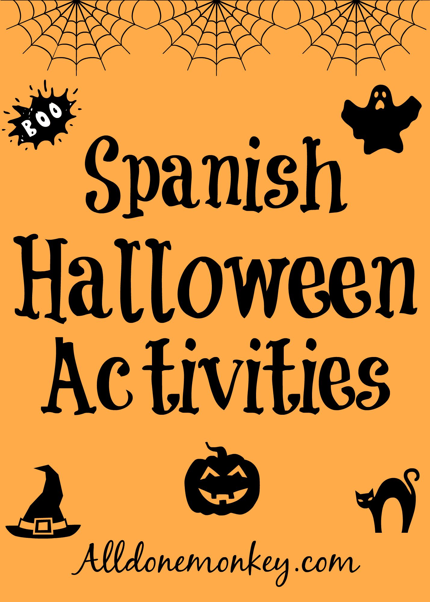Spanish Halloween Activities | Alldonemonkey.com