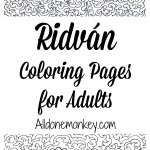 Ridvan Coloring Pages for Adults