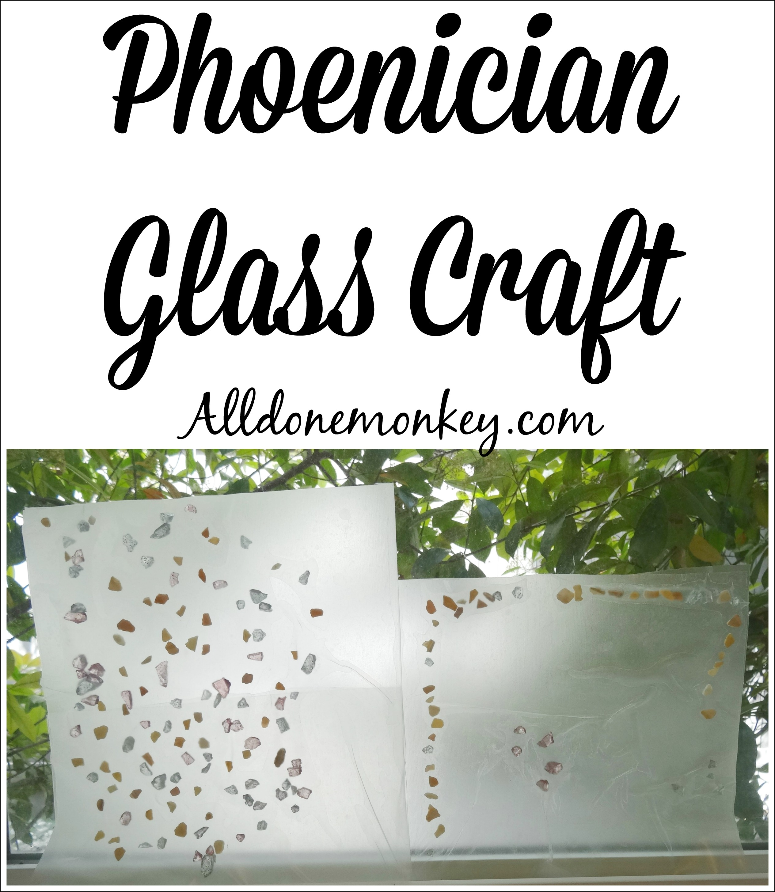 Fun and easy craft to learn about Phoenician glass making | Alldonemonkey.com