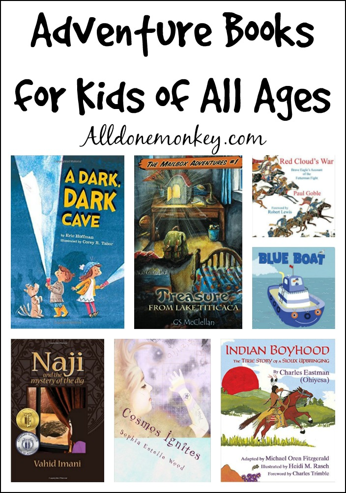 Collection of adventure books from picture books to chapter books