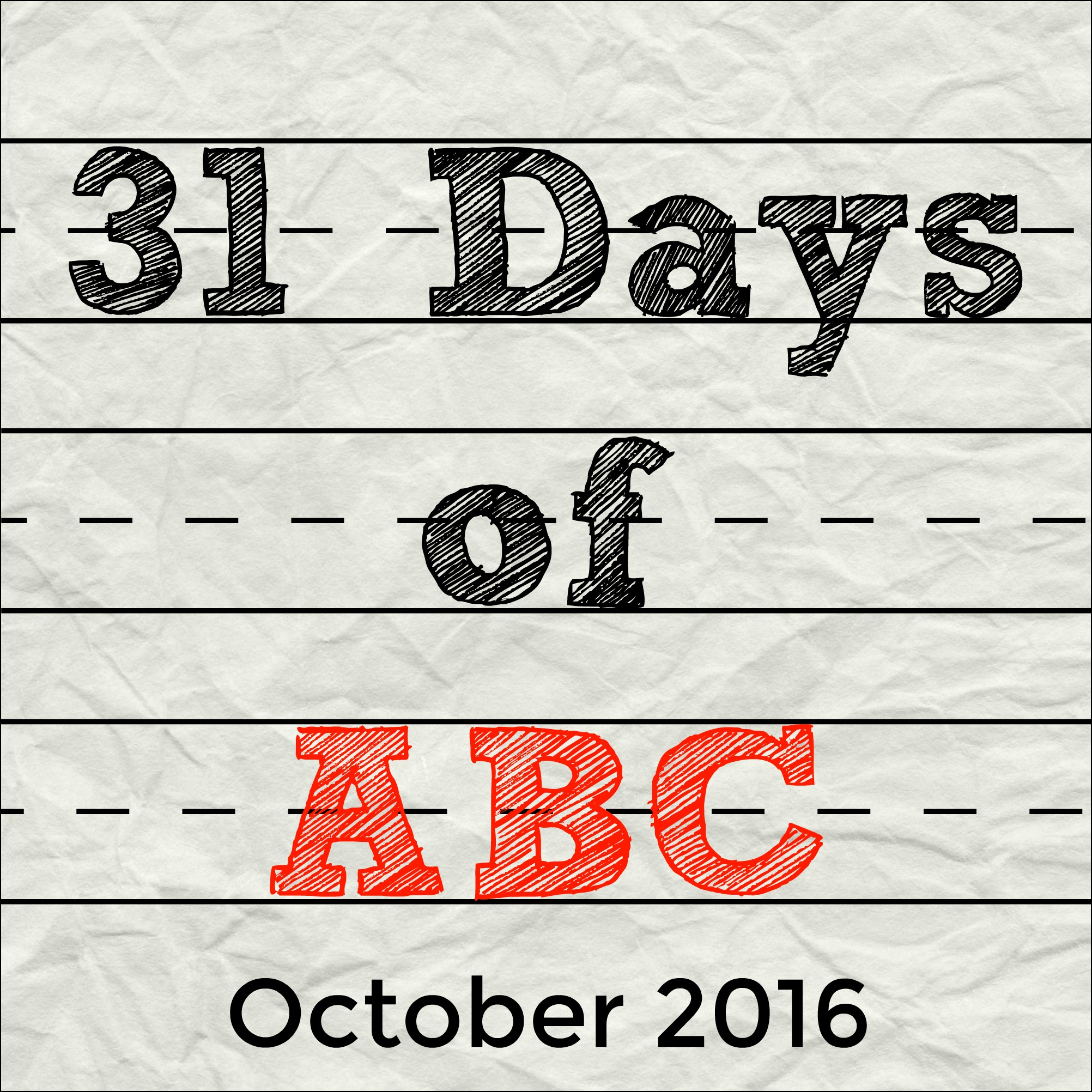 31 Days of ABCs 2016