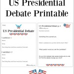 US Presidential Debate Printable