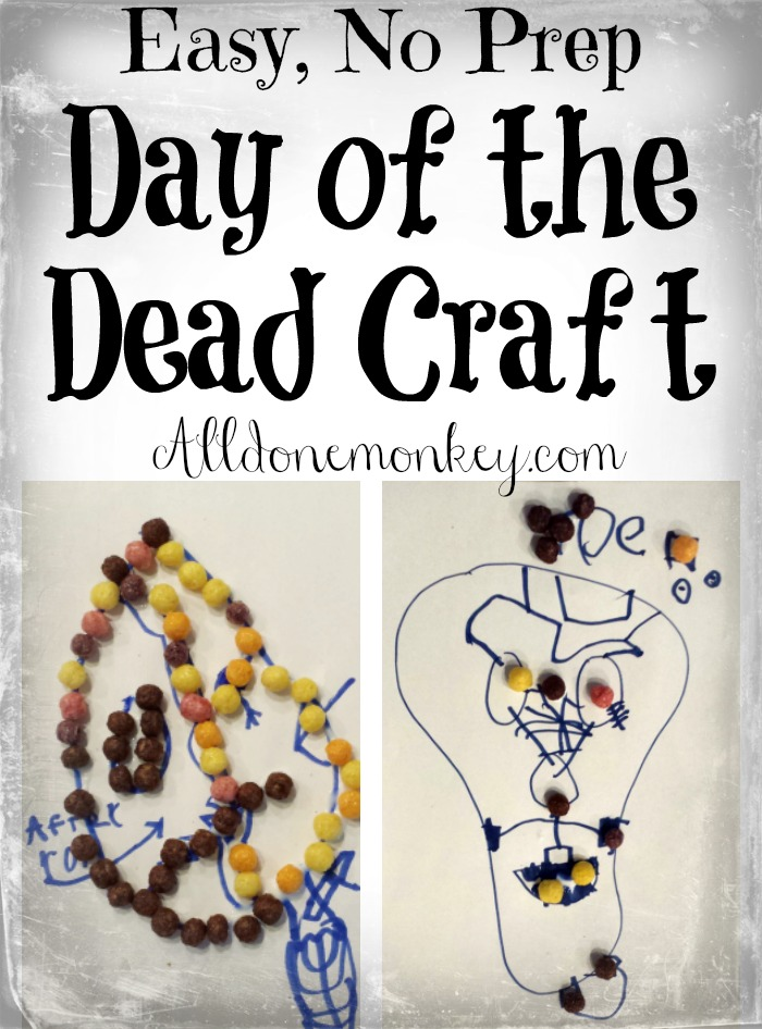 Easy, No Prep Day of the Dead Craft | Alldonemonkey.com