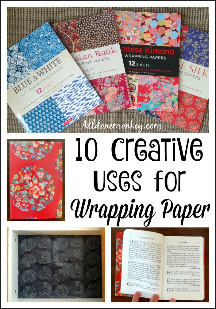 10 Creative Uses for Wrapping Paper | Alldonemonkey.com