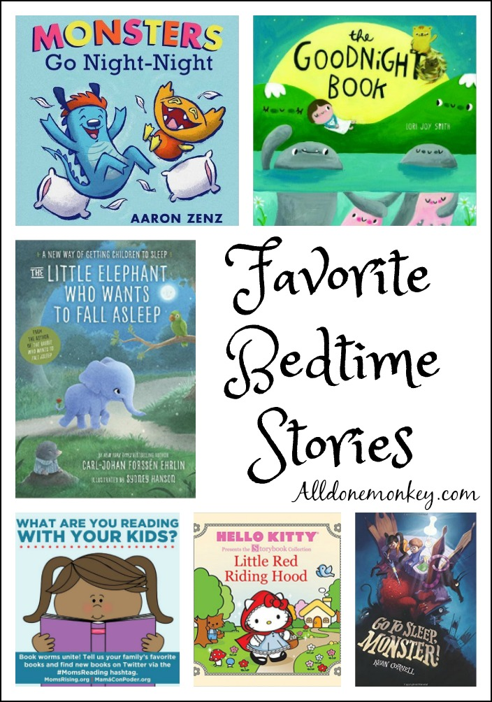 Our favorite bedtime stories and the importance of reading together at night | Alldonemonkey.com
