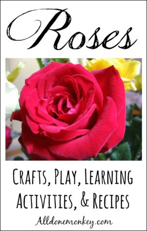 Rose Crafts, Play and Learning Activities, and Recipes