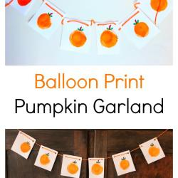 Balloon Print Pumpkin Garland