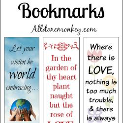 Printable Bookmarks for Ayyam-i-Ha