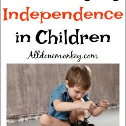 Encouraging Independence in Children