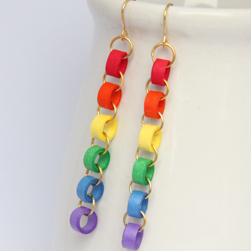Honey's Quilling - Paper Chain Quilled Earrings - Ayyam-i-Ha Gift Guide 2013 on Alldonemonkey.com