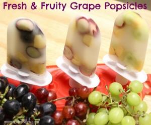 Mom Endeavors - Fruity Grape Popsicles