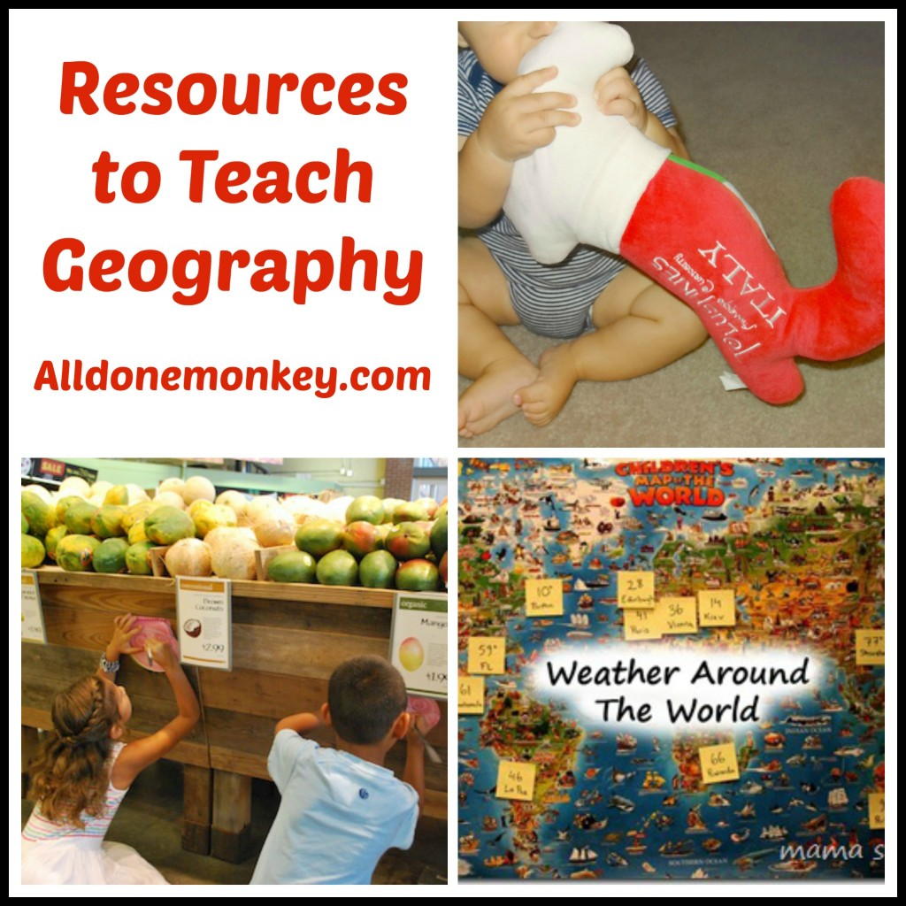Resources to Teach Geography - Alldonemonkey.com