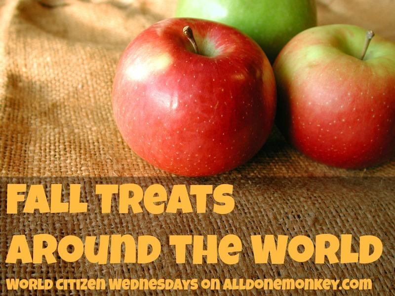 Fall Treats Around the World - World Citizen Wednesdays on Alldonemonkey.com