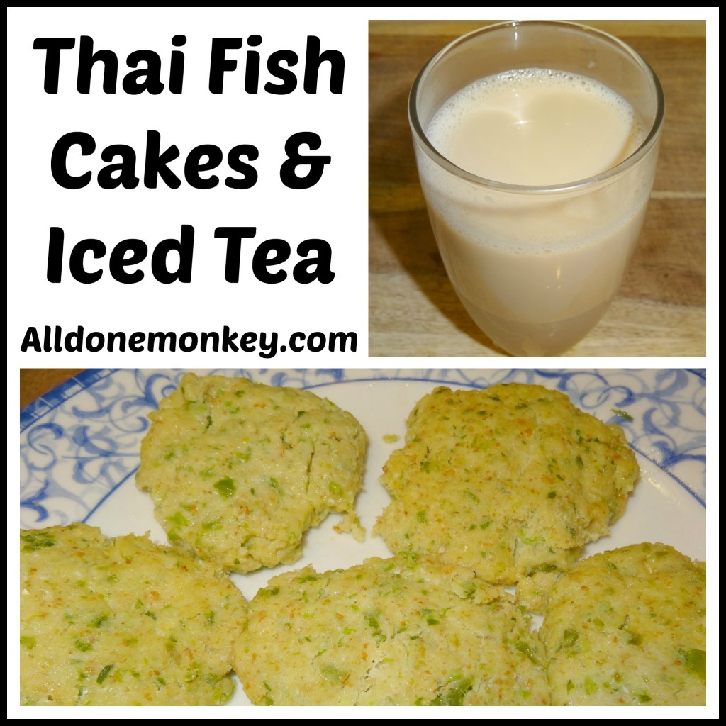 Thai Fish Cakes and Iced Tea {Around the World in 12 Dishes} - Alldonemonkey.com