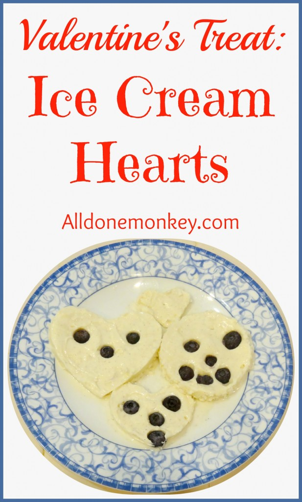 Valentine's Treat Ice Cream Hearts