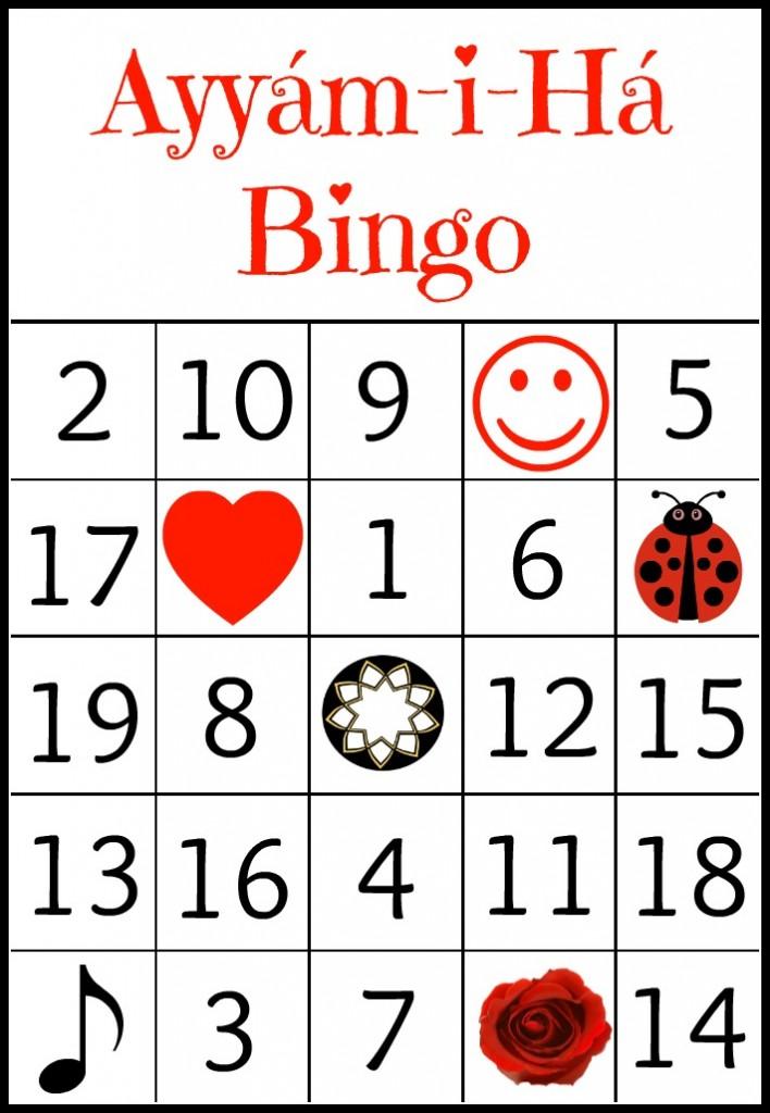 Ayyam-i-Ha Bingo - Alldonemonkey.com