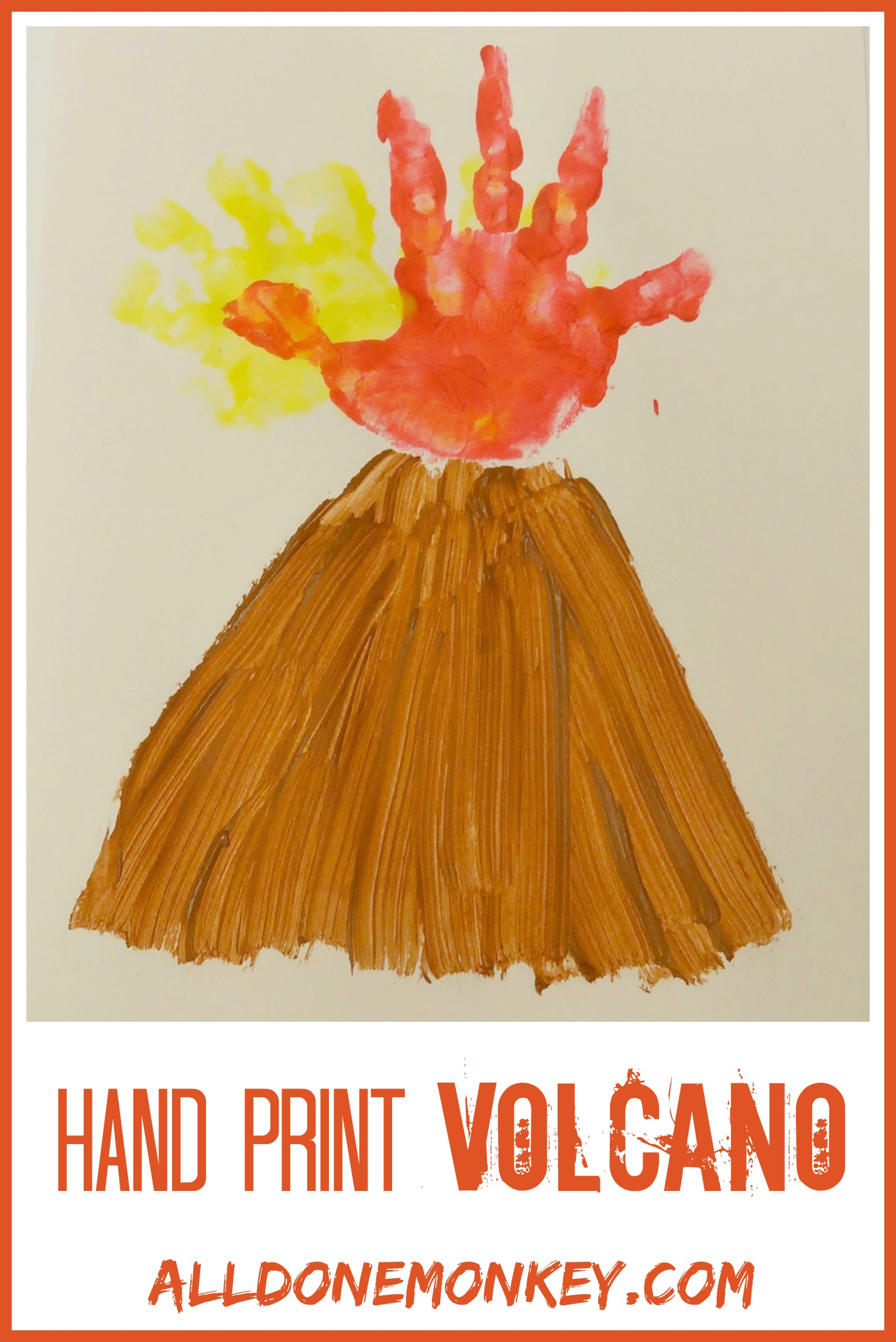 volcano craft ideas print volcano card all done monkey 3194