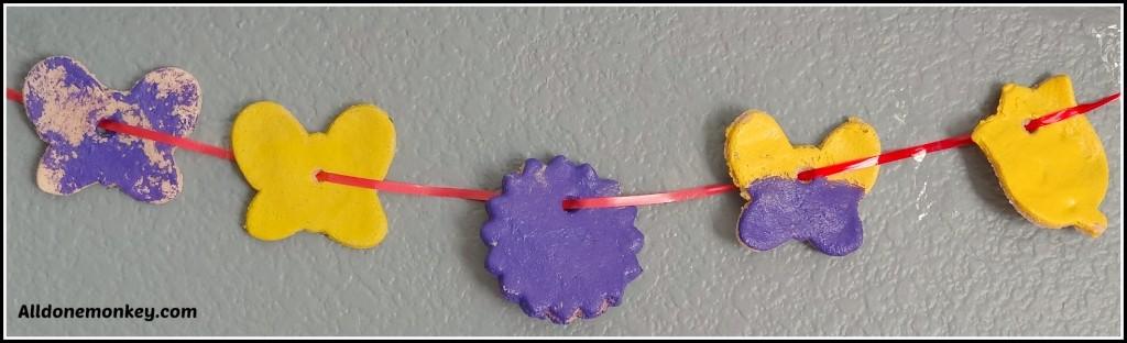 Spring Banners & Lazy Salt Dough Roses {Ridvan} - Alldonemonkey.com