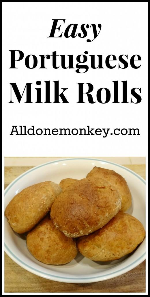 Easy Portuguse Milk Rolls {Around the World in 12 Dishes} - Alldonemonkey.com