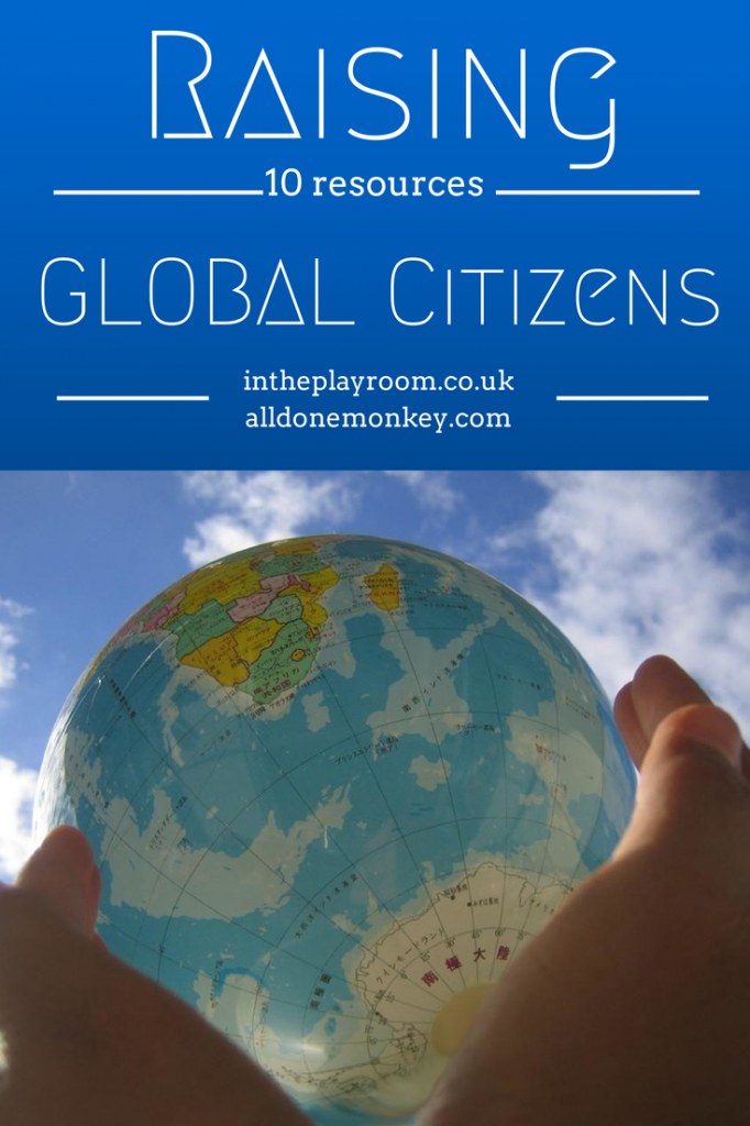 10 Resources on Raising Global Citizens: All Done Monkey featured on In the Playroom