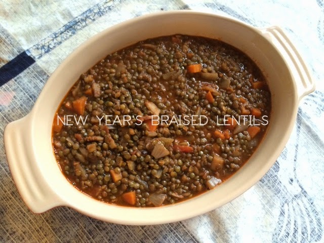 New Year's Braised Lentils - Washington Dead Chef