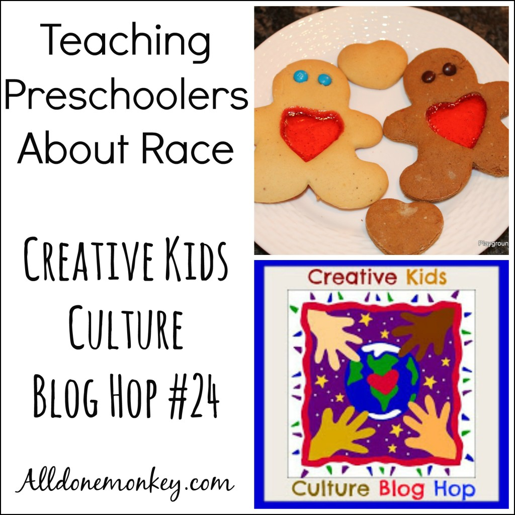Teaching Preschoolers About Race: Creative kids Culture Blog Hop #24 | Alldonemonkey.com