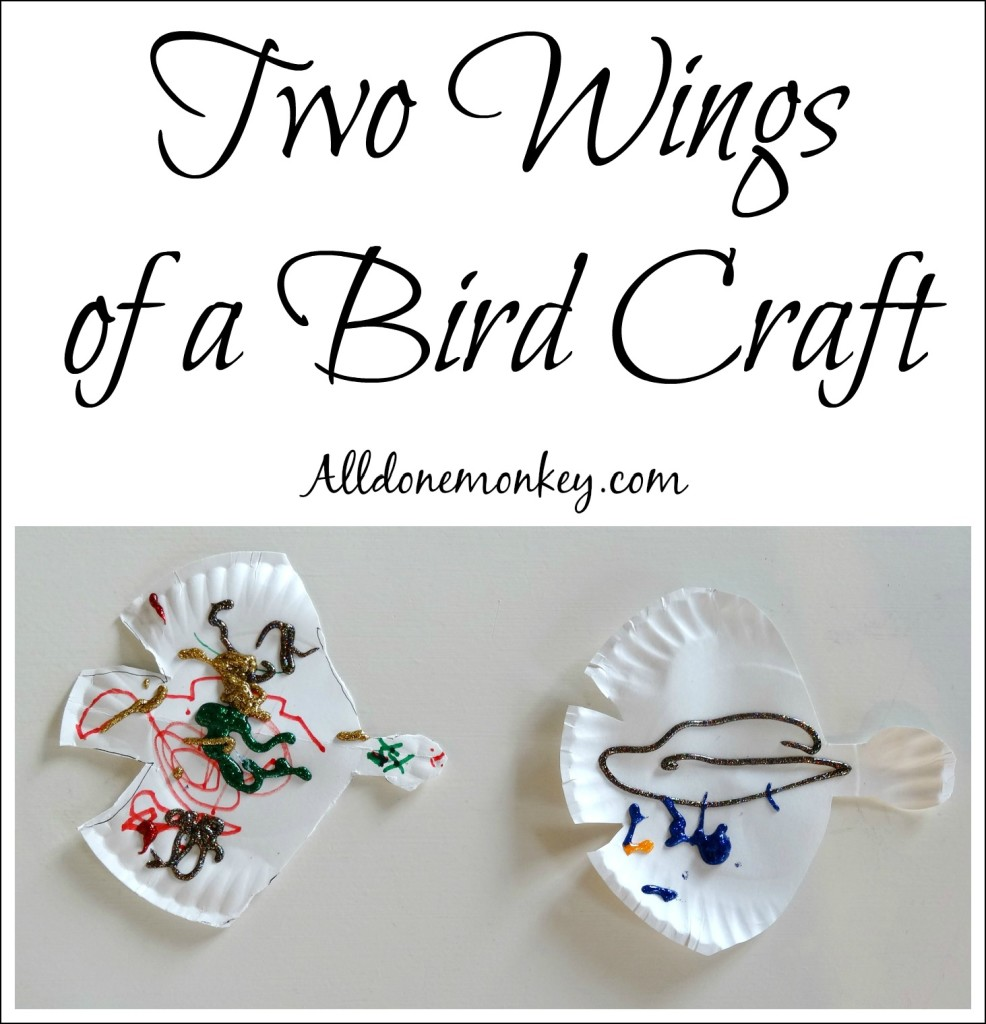Two Wings of a Bird Craft for Women's History Month | Alldonemonkey.com