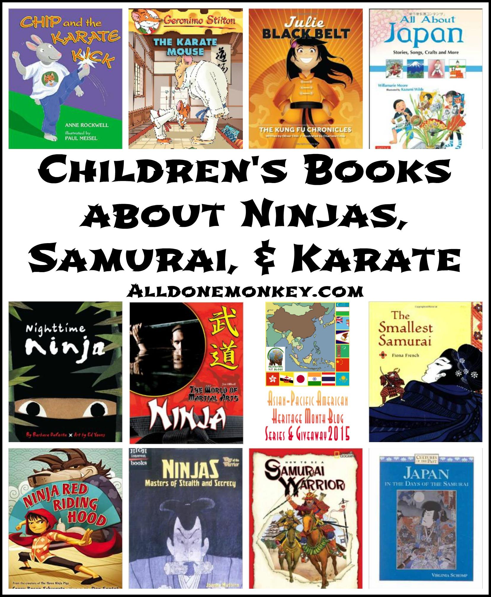 children u0027s books about ninjas samurai and karate