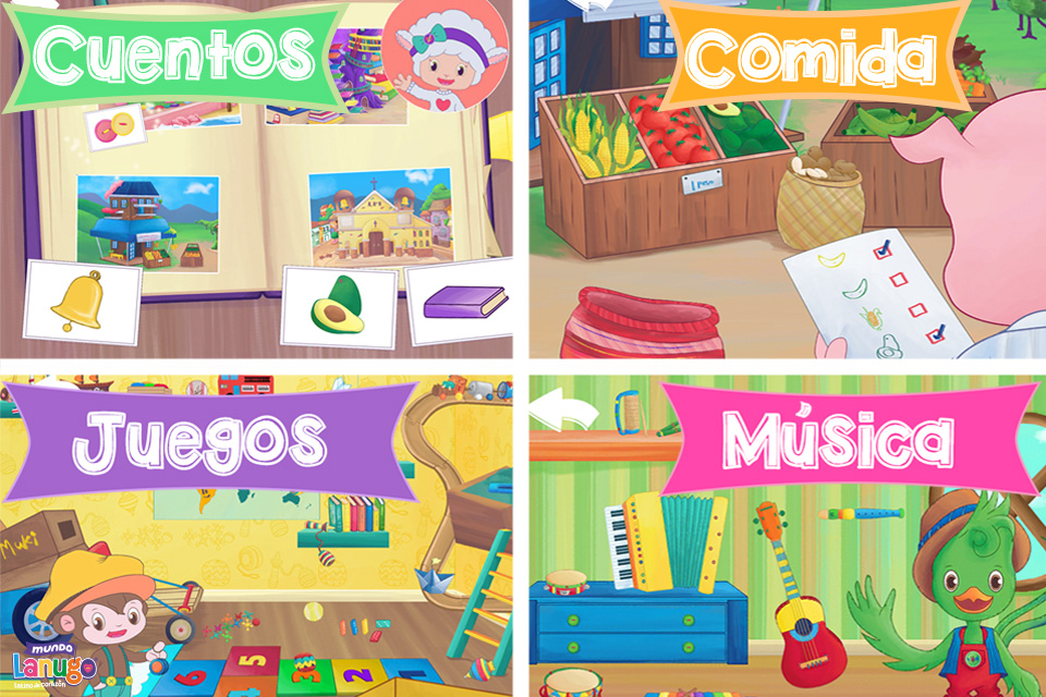 Mundo Lanugo: Spanish App for Kids to Learn Language and Culture | Alldonemonkey.com