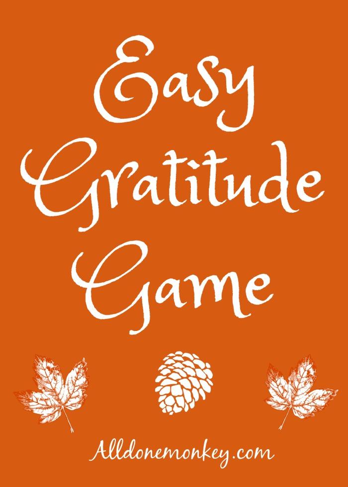 Easy Gratitude Game: Writing Activity | Alldonemonkey.com