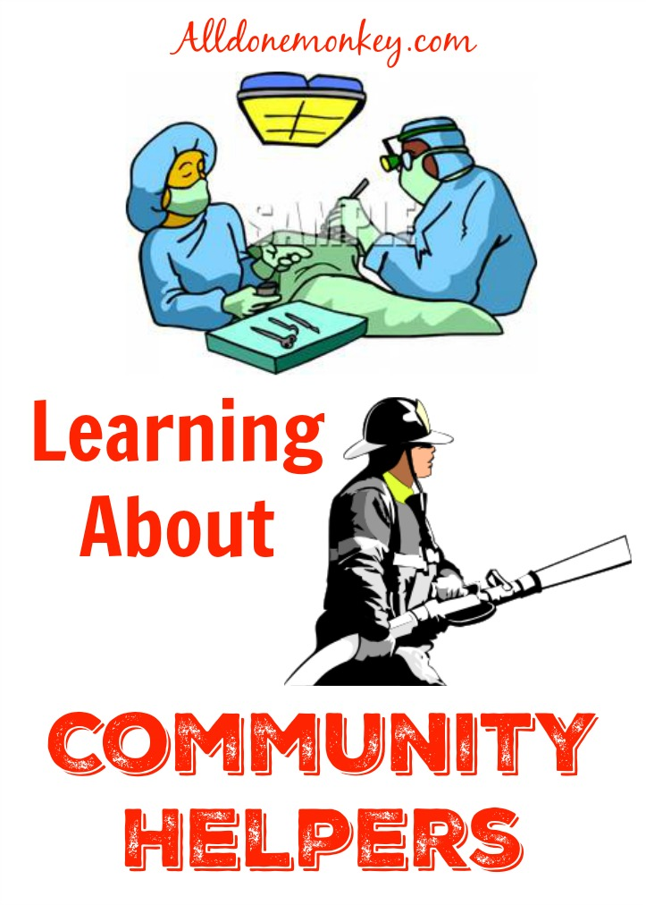 Learning About Community Helpers | Alldonemonkey.com