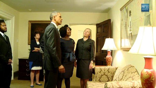 Ruby Bridges and Obama