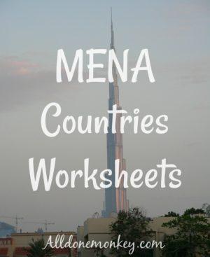 MENA Countries Worksheets {Printable}
