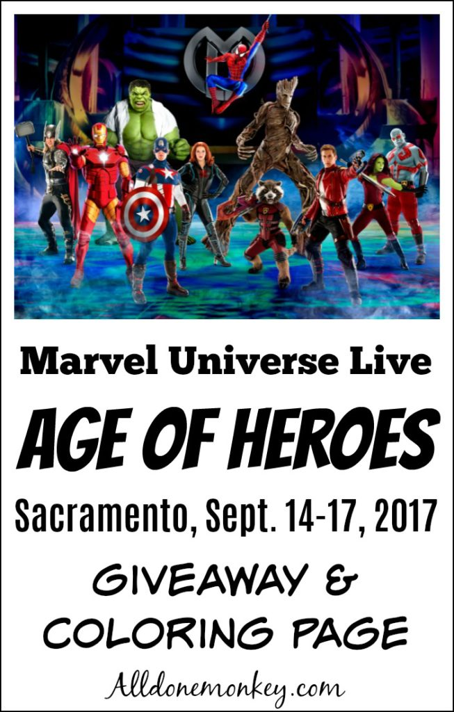 Marvel Universe Live Age Of Heroes Giveaway Amp Coloring